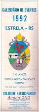 Estrela-RS - Calendário de Eventos 1992