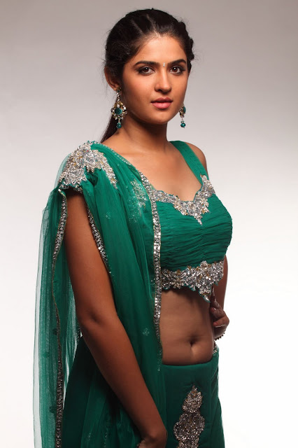 deeksha+seth ALLHOTACTRESSIN.BLOGSPOT.COM Actress Deeksha Seth in Hot Spicy Green Saree Wallpapers