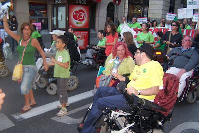 asistentes a la marcha