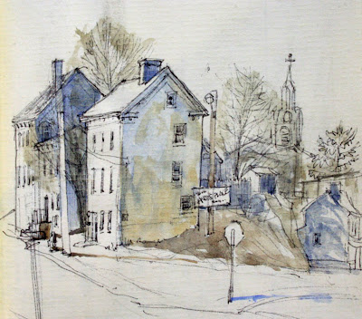 A Line and Wash watercolour tutorial by Peter Sheeler, quick and ...