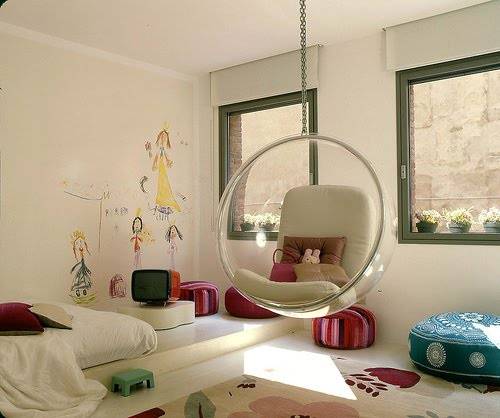 the boo and the boy hanging chairs swings in kids 39 rooms