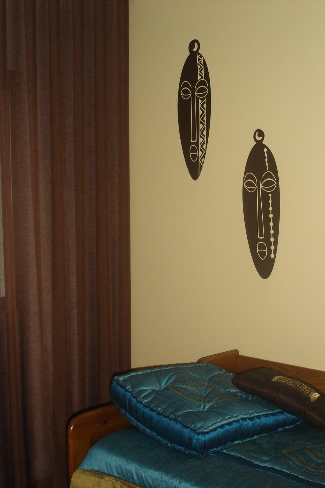 lojas de decoracao de interiores em leiria : lojas de decoracao de interiores em leiria:de hóspedes em estilo étnico aplicação de stickers de máscaras em