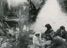 Família no meio da guerra