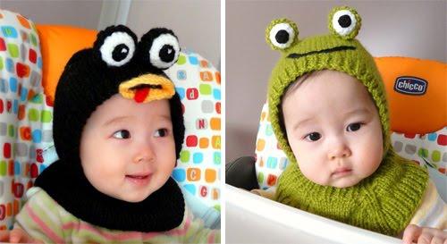 Con estos gorros su bebé no solo tendrá la cabecita y orejas tibias ...