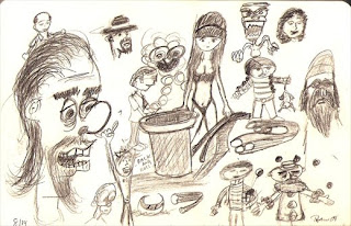 Random sketches by Tony Sarrecchia