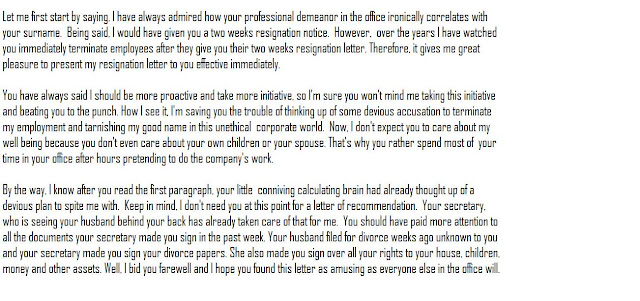 Funny and dangerous resignation