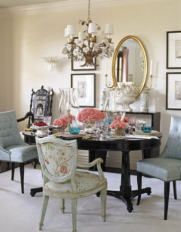 Victoria dreste designs dining rooms eclectic elegance for Eclectic dining room designs