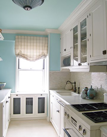 Victoria dreste designs kitchens blue walls for Blue kitchen cabinets with yellow walls