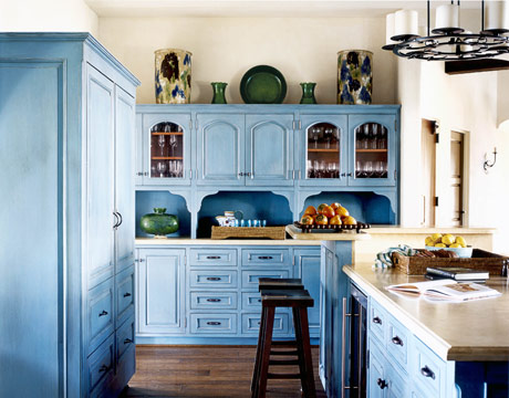 Victoria Dreste Designs Kitchens Blue Cabinets