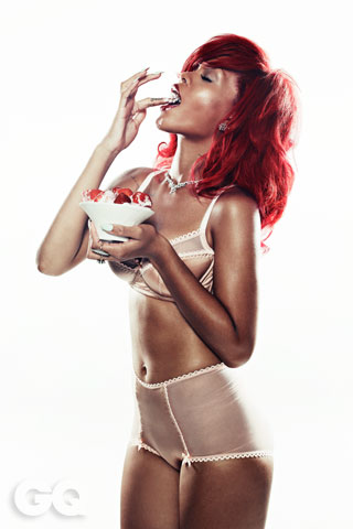 rihanna underwear photos. Rihanna on GQ magazine.