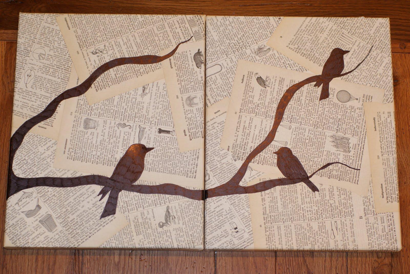 The Bride 39 S Diary DIY Pretty Bird Wall Art