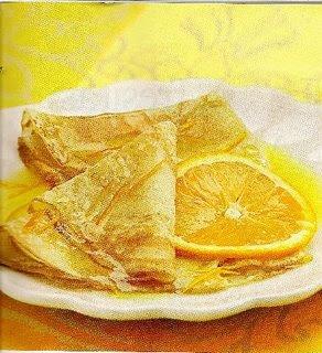 Crepes a la Naranja