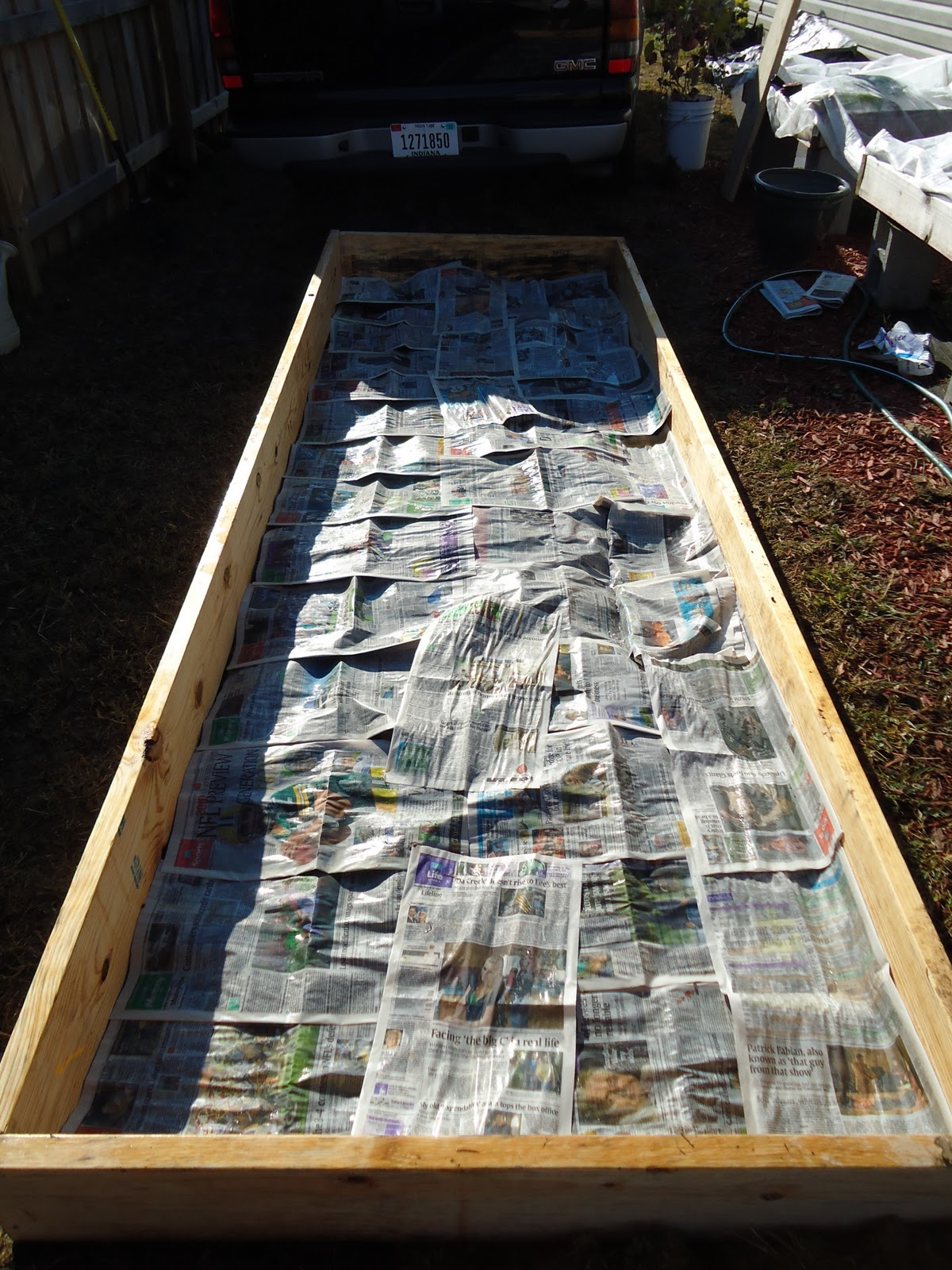 Thyme to garden now building new raised garden beds for How to fill a raised garden bed