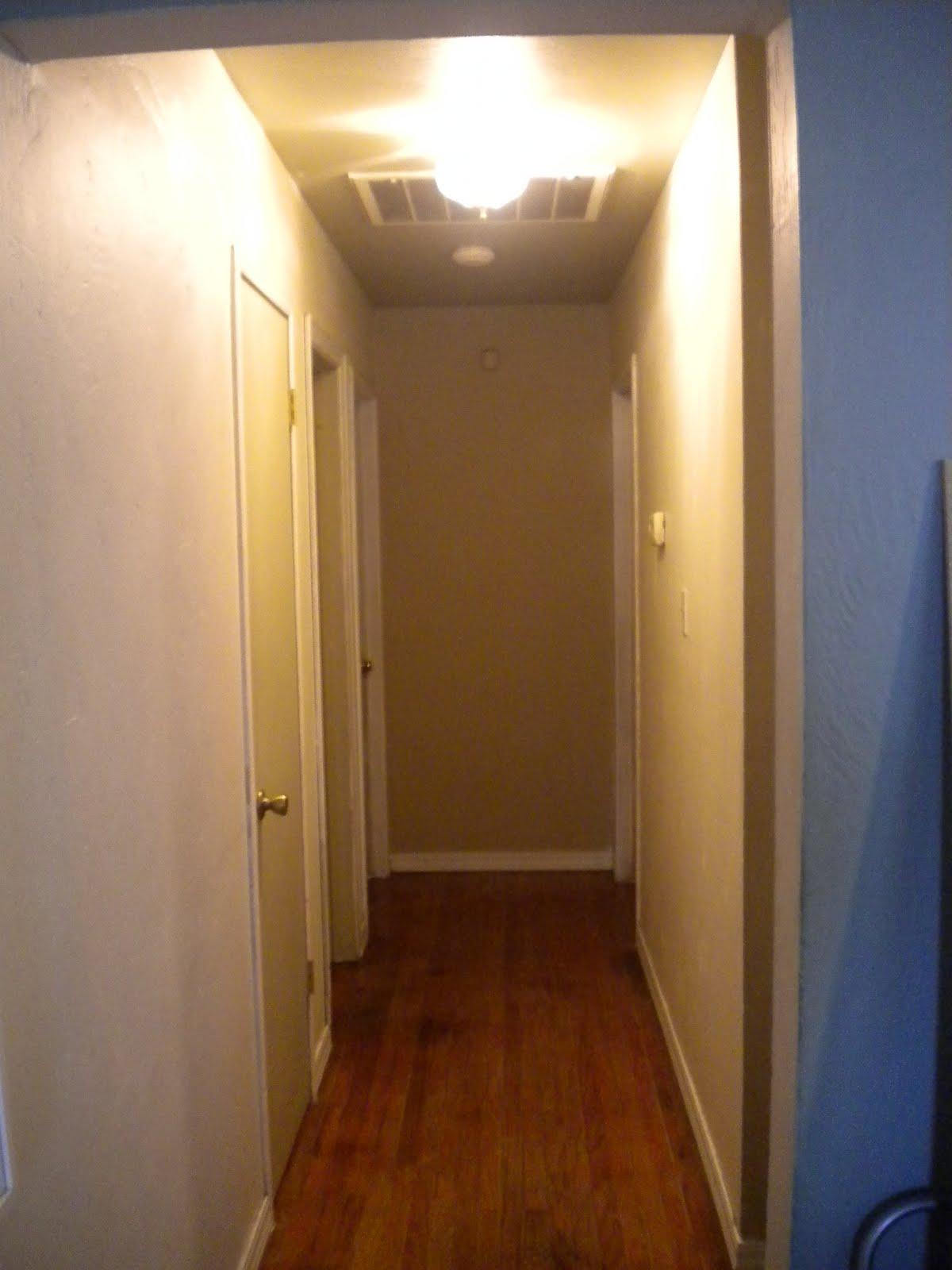 hallway finally. finally a bright hallway