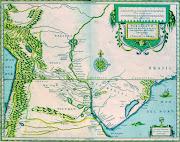 MAPA RÍO DE LA PLATA Y REGIONES ADYACENTES.1616. rão de la plata regiones adyacentes