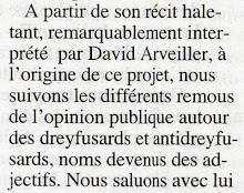 """Extraits de la revue de presse du """"Dreyfus"""" (articles entiers sur blog ci-dessus)"""