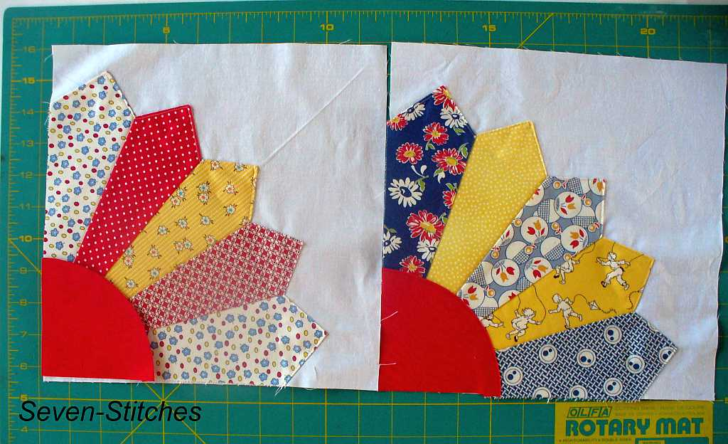 Quilt Pattern For Grandmother S Fan : Grandmother s Fan Tutorial - Seven-Stitches