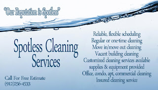 Elegant Images by Mandy Business Cards for Spotless Cleaning