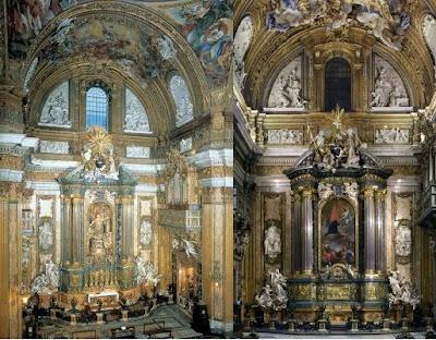 cappella di sant'Ignazio al Gesù (la tela e la statua)