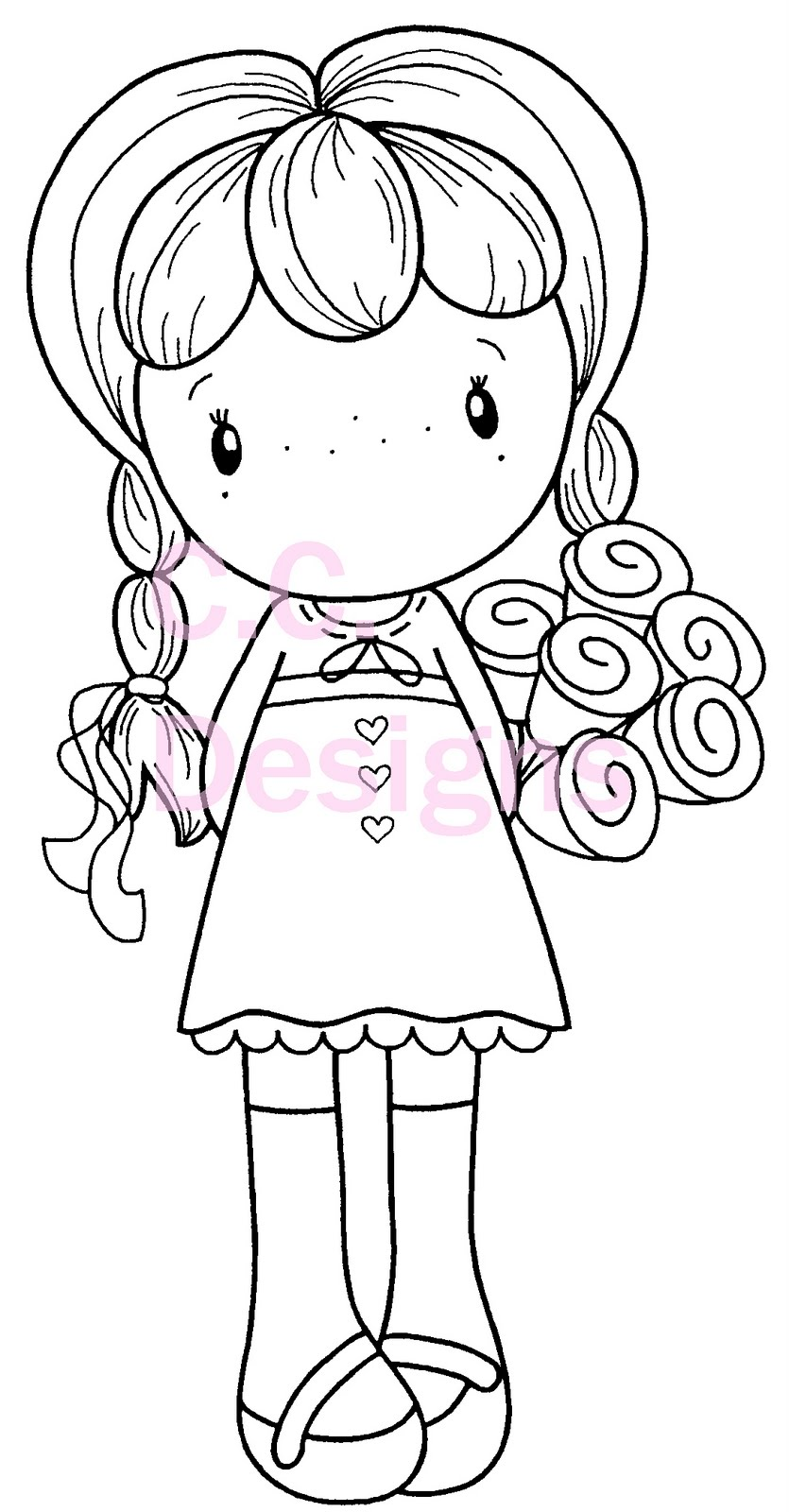 Copic Marker Coloring Pages Sketch Coloring Page