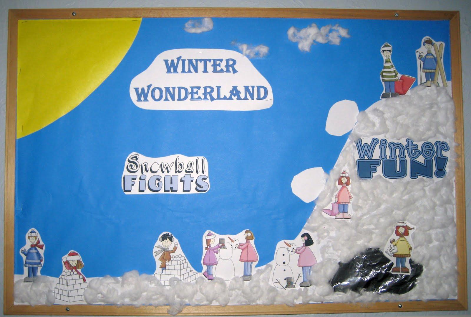 Treasures Of The Heart Preschool And Child Care Winter Wonderland Bulletin Board