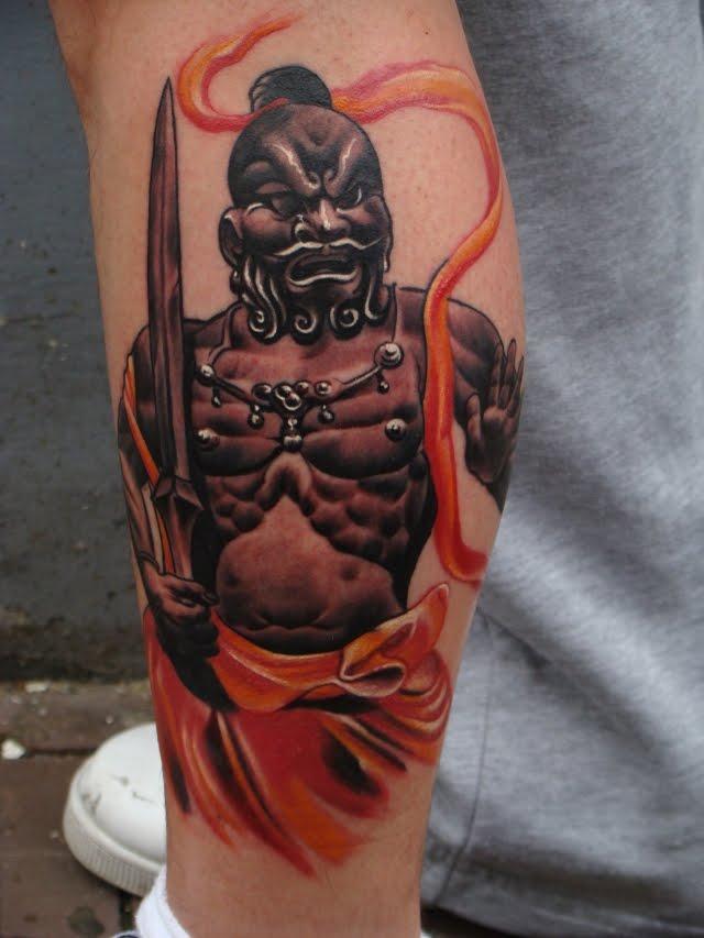 Japanese Temple Art Tattoo japanese art tattoos : gurdian japanese ...