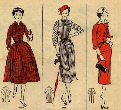 1950s Fashion  Girls on Drees    Vintage Style