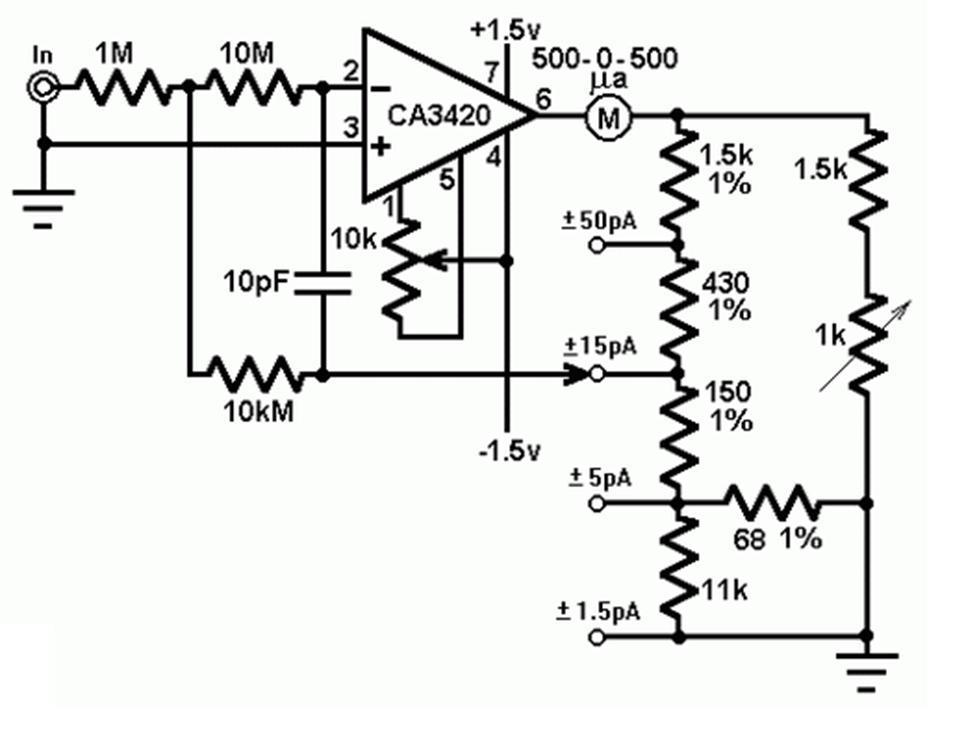 alat ukur picoammeter 4 jangka