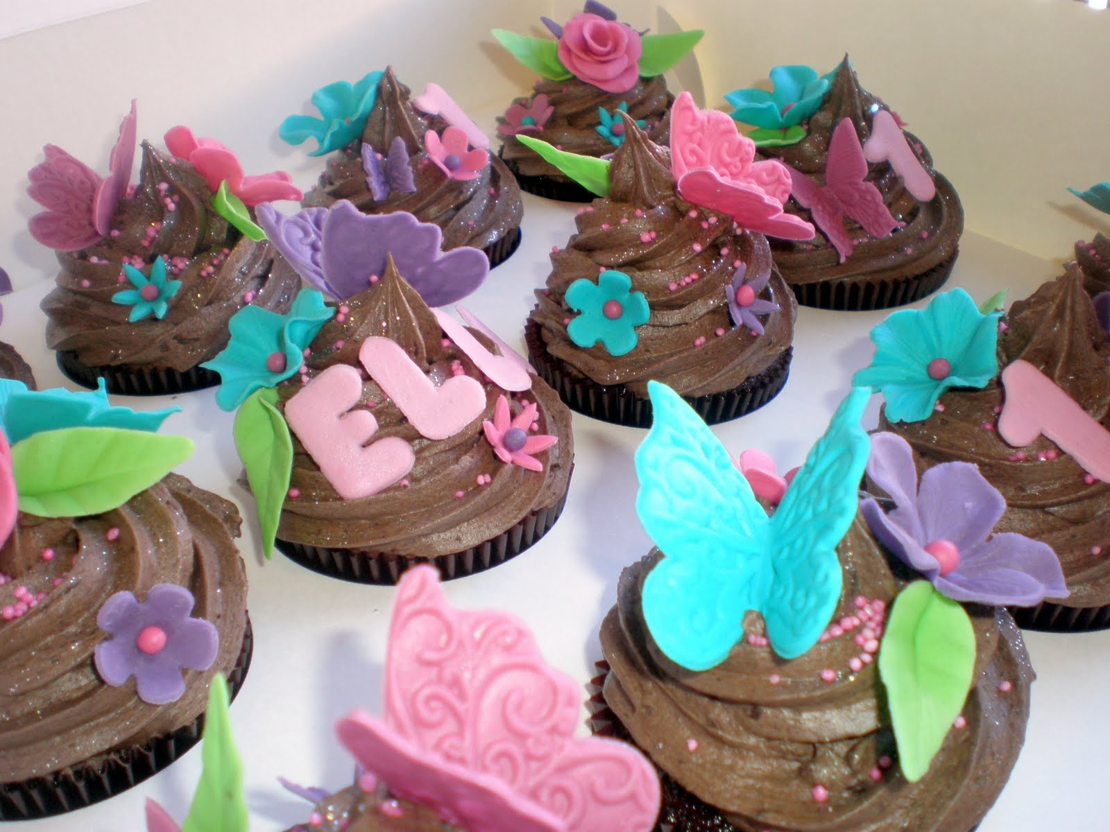 Sugar Siren Cakes Mackay Bright Butterfly Flower 1st Birthday