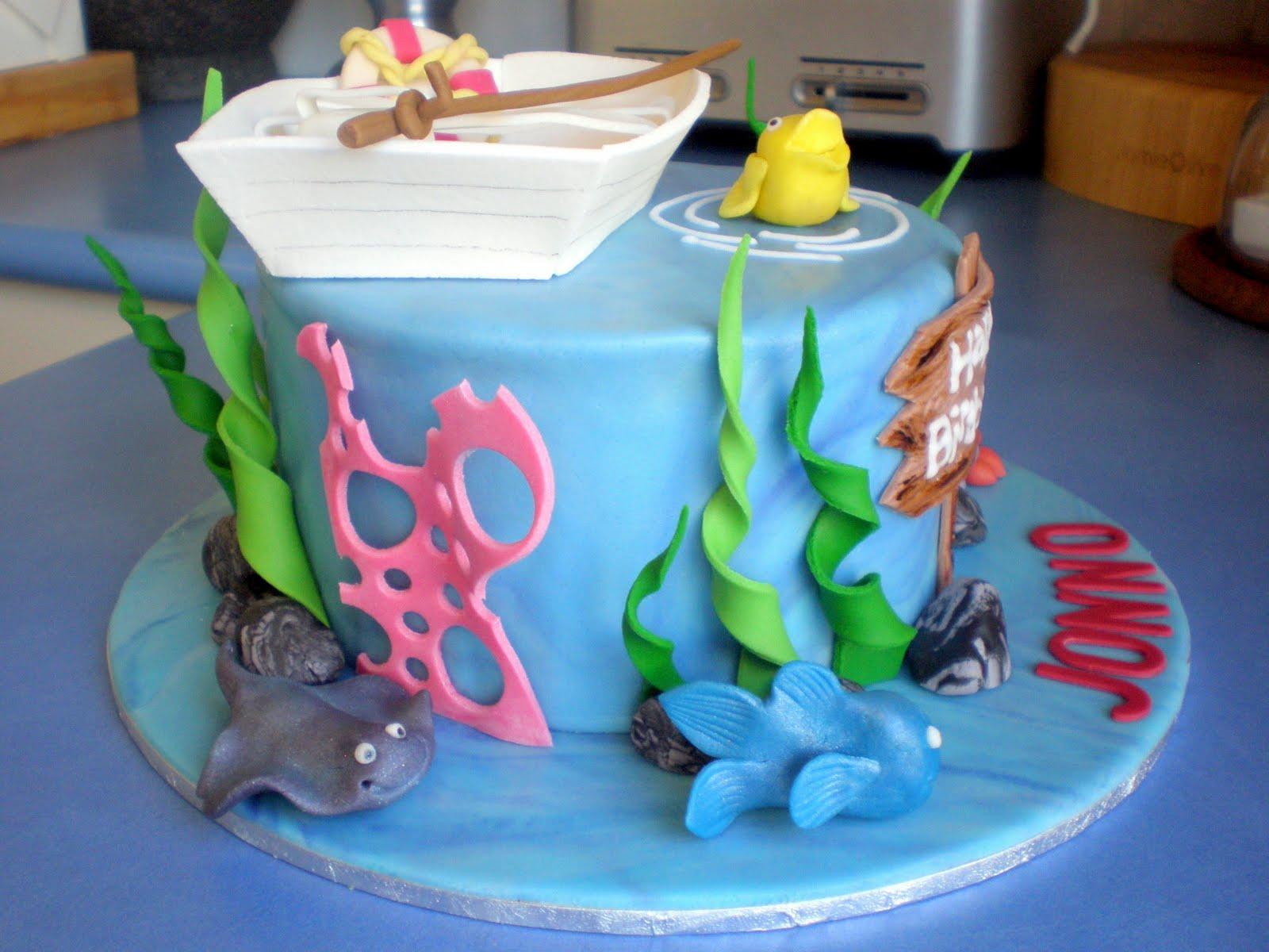 Fishing Birthday Cake Nashville Sweets