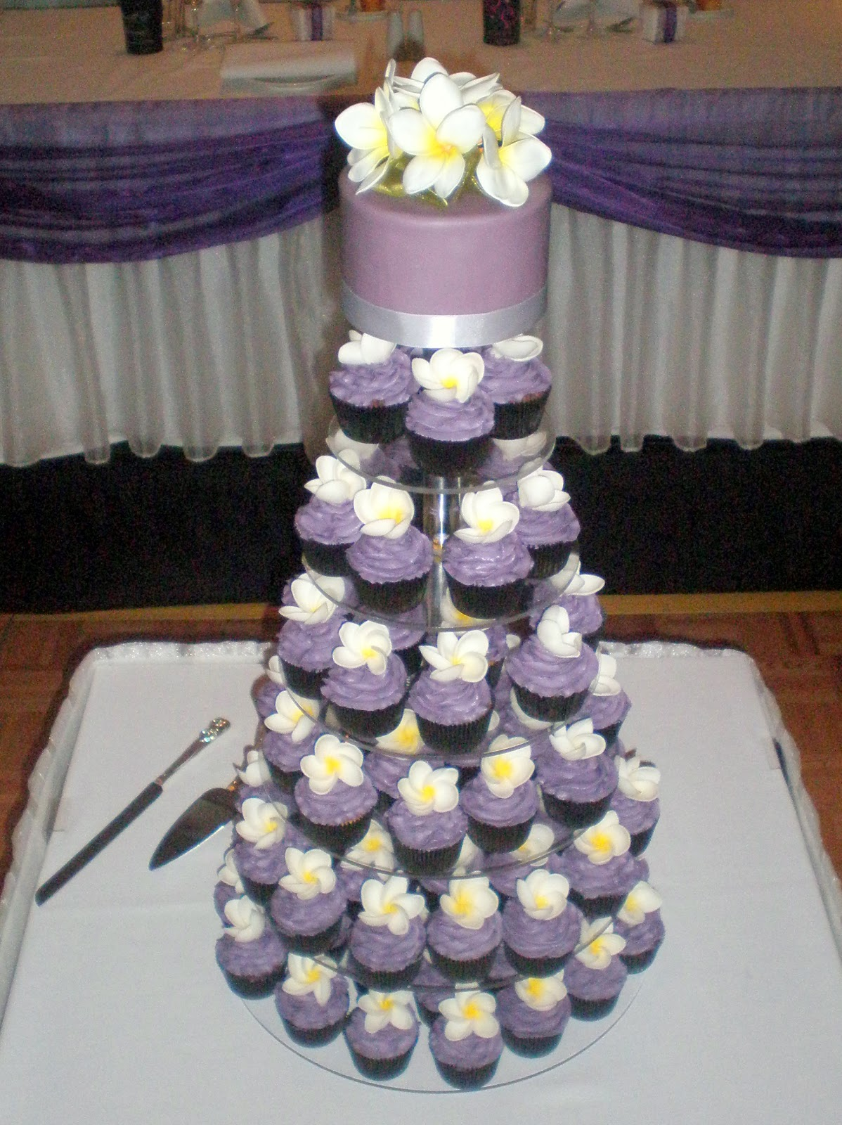 Sugar Siren Cakes Mackay Purple Frangipani Wedding