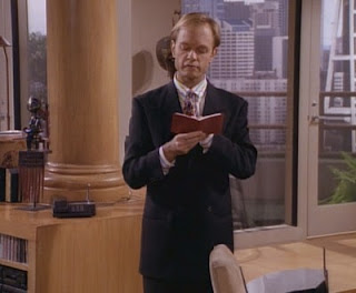 Niles keeps his thoughts organized.