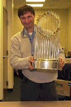 Ken-displaying Red Sox World Championship Trophy-2004