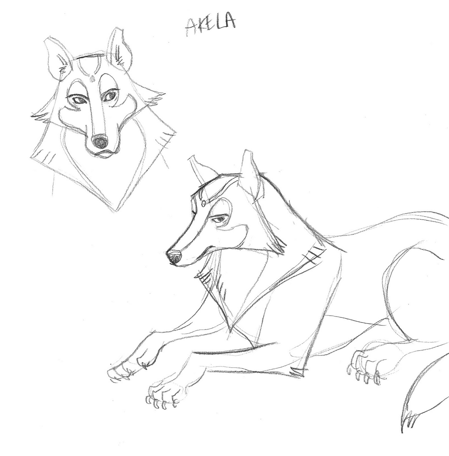Sketches Of M. S. Corley Jungle Book Character Concepts