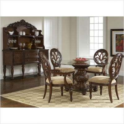 chintaly 07100710 glasspiece dining table dining room table sets