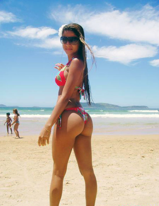 Chicas en bikini paleta culo vid