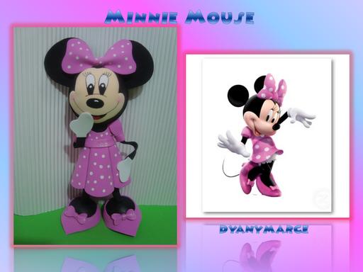 Moldes de Minnie Mouse en goma eva - Imagui