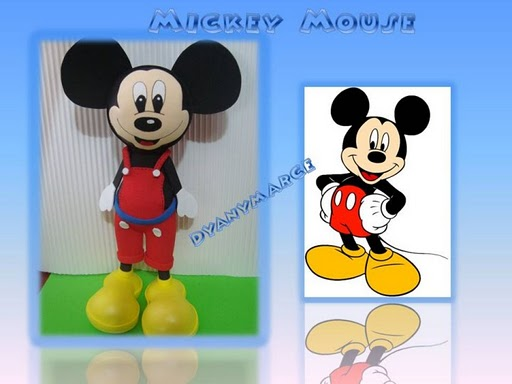 Ideas Creativas Goma Eva: Mickey Mouse Fofucho!