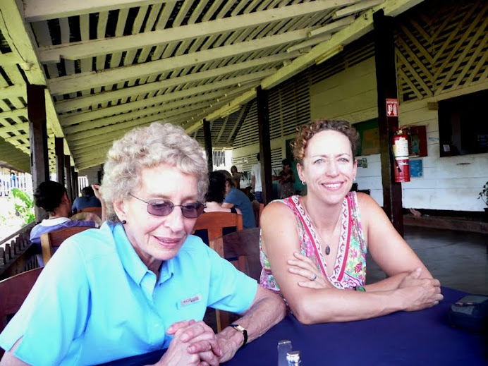 My mother and me at Finca Magdelena, Ometepe