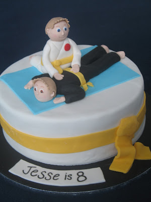Blissfully Sweet Karate Kid Birthday Cake