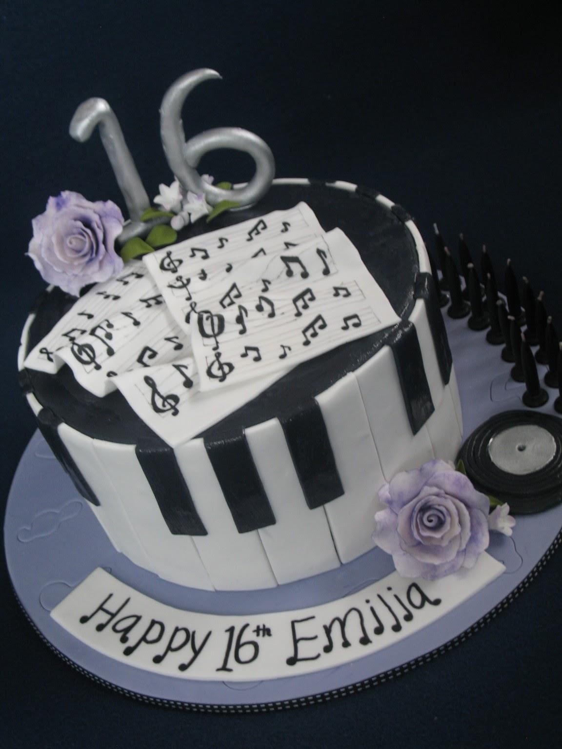 Blissfully Sweet An Elegant Musical 16th Birthday Cake