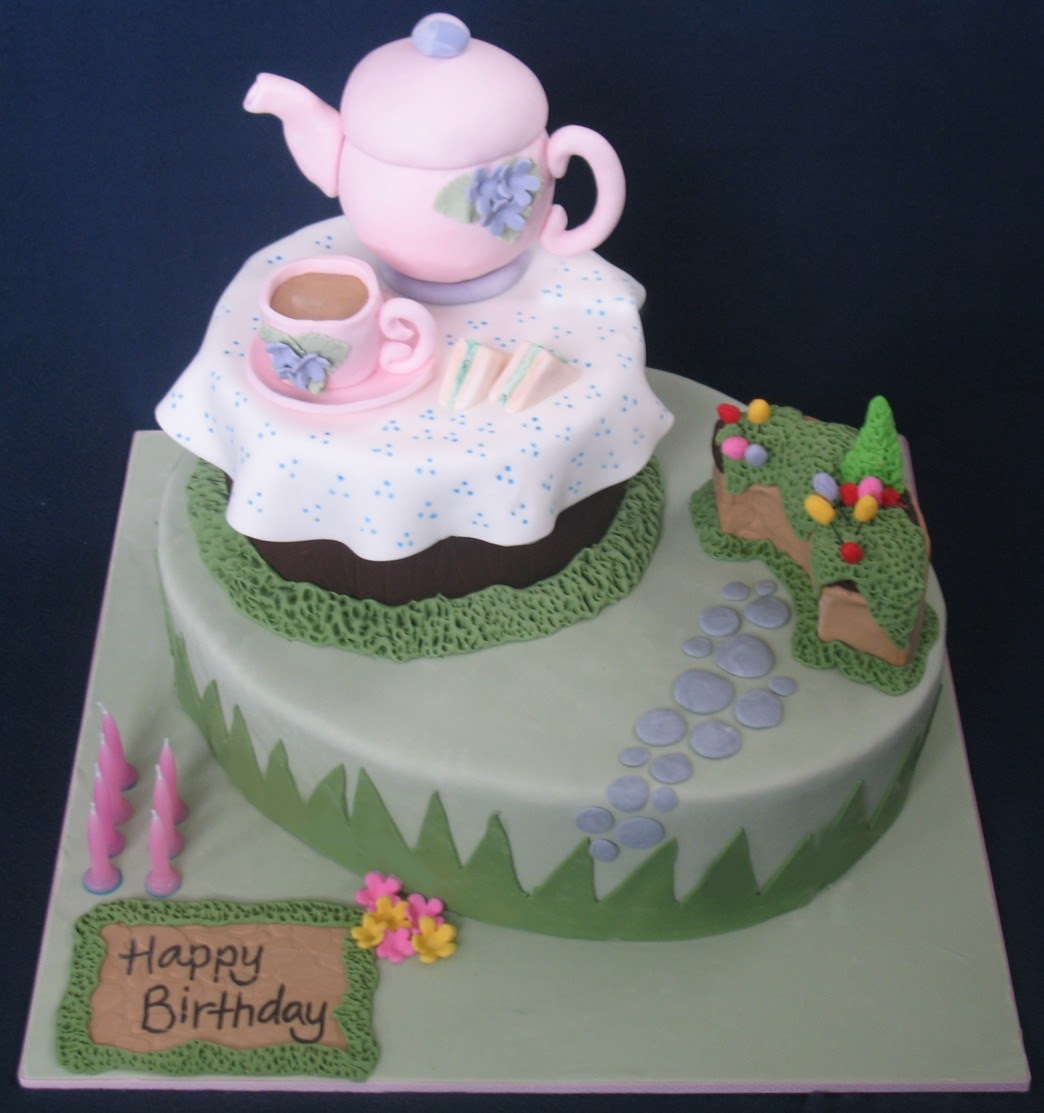Blissfully Sweet A High Tea Gardeners 70th Birthday Cake