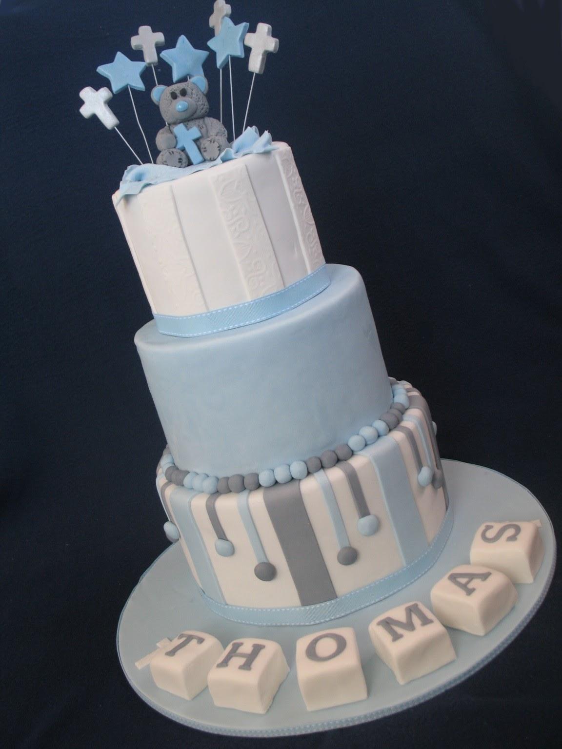 Blissfully Sweet Blue \u0026 Grey Christening Cake Delight