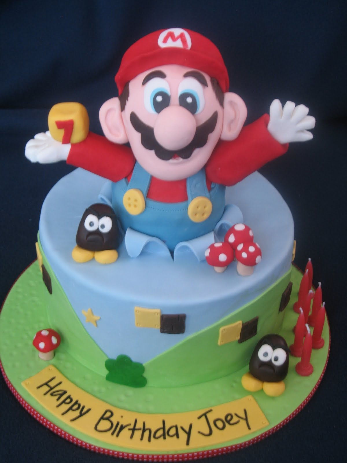 Blissfully Sweet Super Mario Birthday Cake