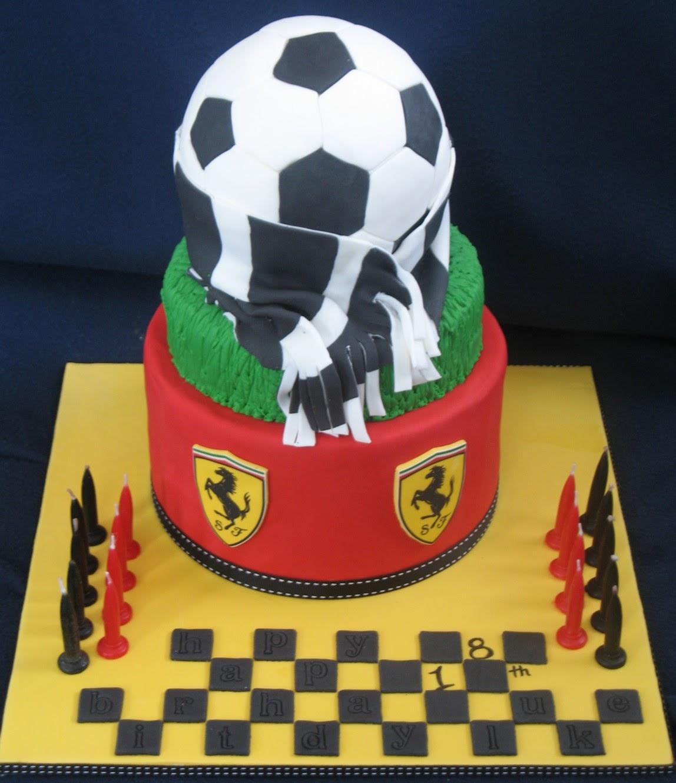 Blissfully Sweet A Ferrari Soccer 18th Birthday Cake