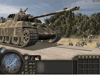 Tank battle in Achtung Panzer