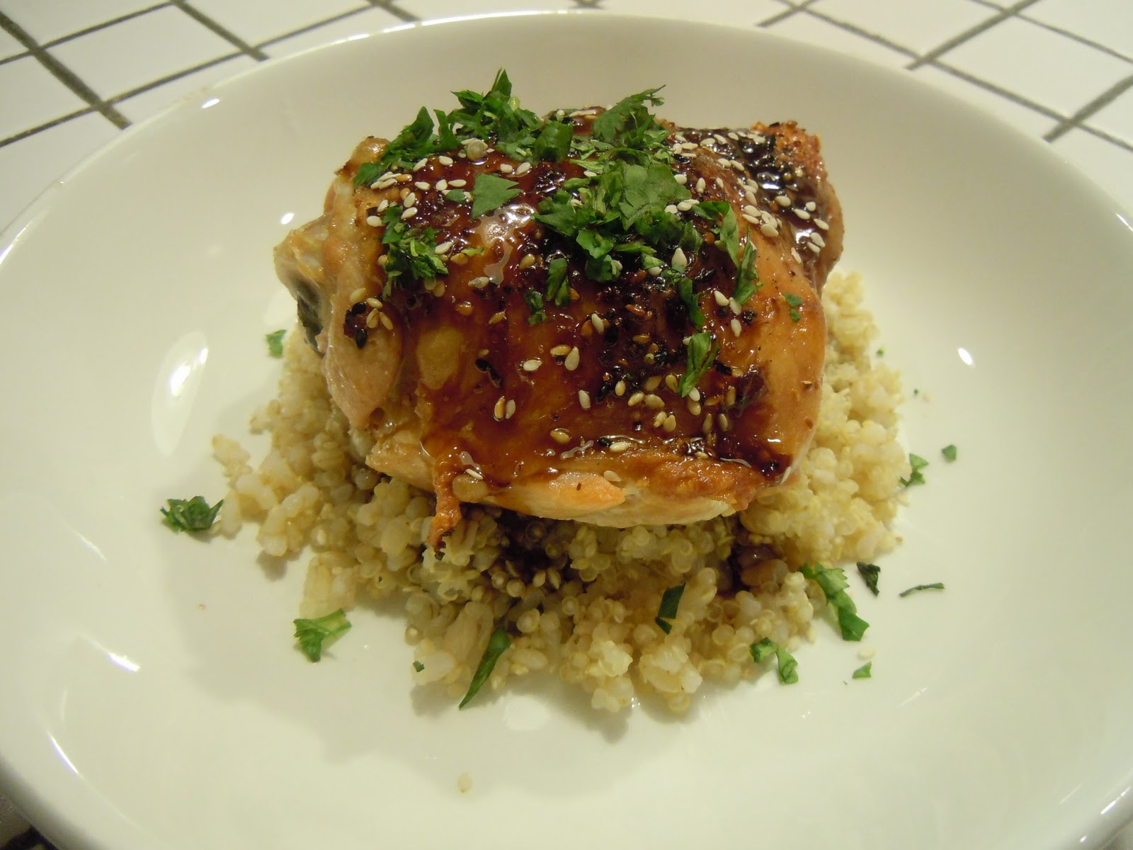 The Clean Plate Club: Orange and Soy Glazed Chicken Thighs