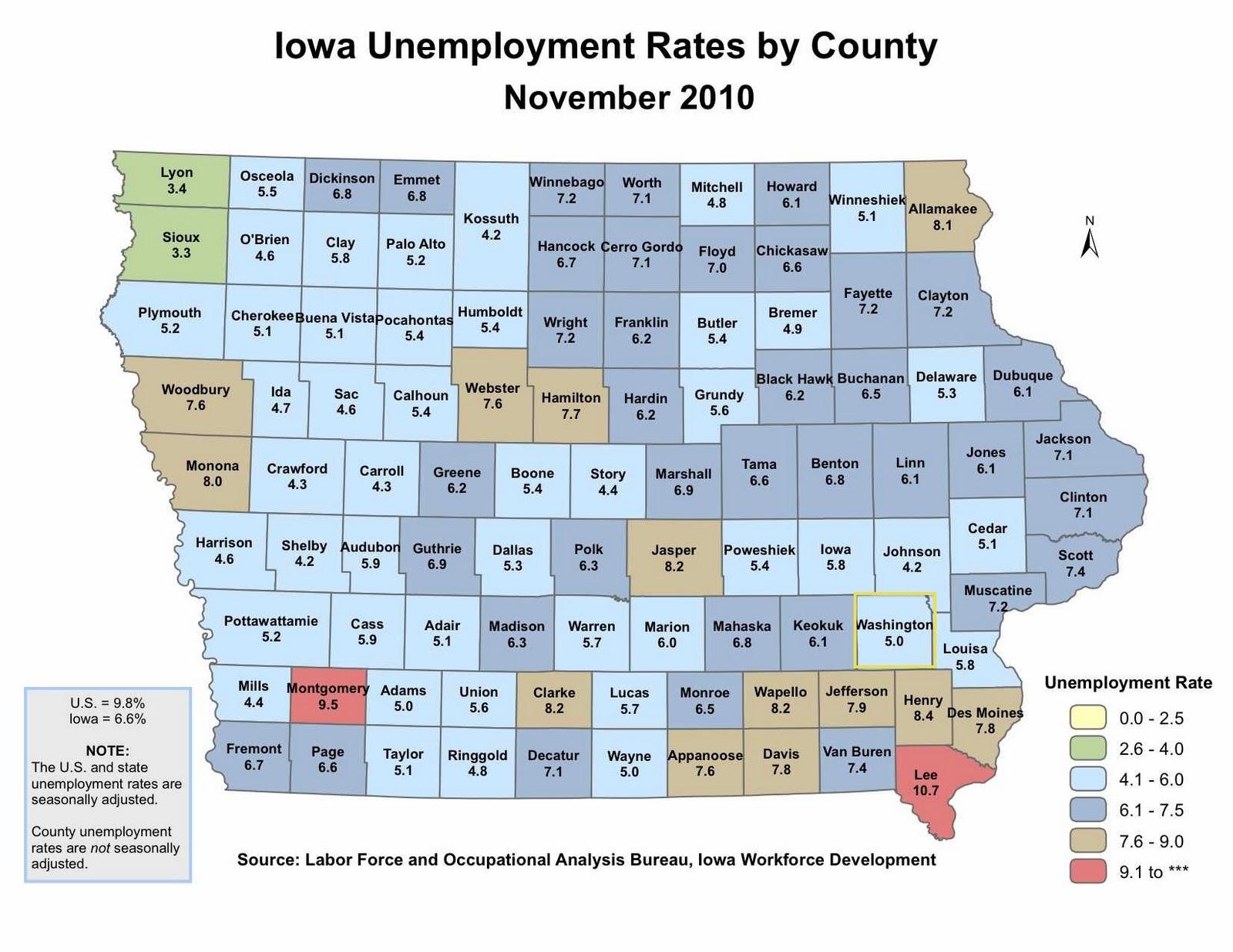 Washington County Iowa Map.Washington Economic Development Group 2010