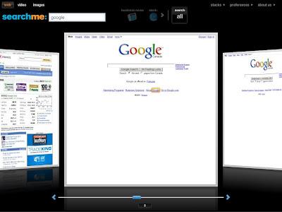 SearchMe, buscador com estilo de ITUNES