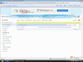 Novo WindowsLive, nem o Capeta te segura...Publicidade bem forçada do Windows Live